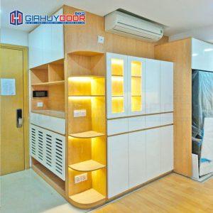Nội thất tủ gỗ kệ gỗ TU 34