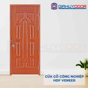 Cửa gỗ công nghiệp HDF Veneer 19-xoan dao