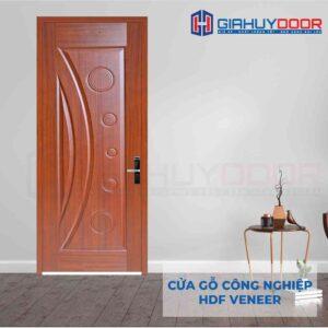 Cửa gỗ công nghiệp HDF Veneer 1K sapele