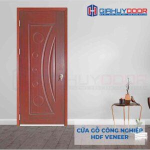 Cửa gỗ công nghiệp HDF Veneer 1K-xoan dao