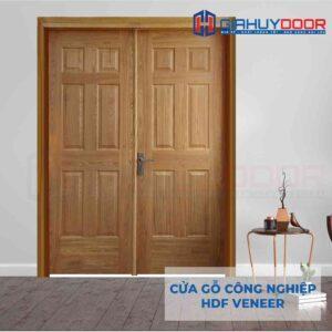 Cửa gỗ công nghiệp HDF Veneer 2 canh 12A-ash