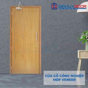 Cửa gỗ công nghiệp MDF Veneer P1 soi
