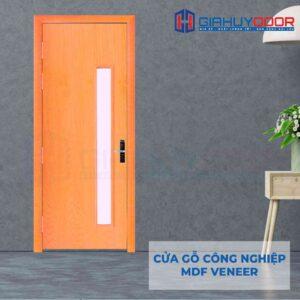 Cửa gỗ công nghiệp MDF Veneer P1GL Xoan dao