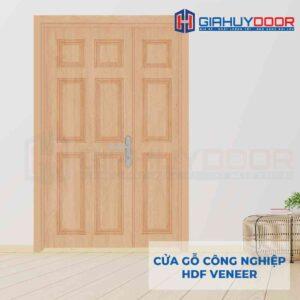 Cửa gỗ công nghiệp HDF Veneer 2 canh 9A Oak (1)