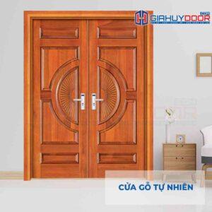 Cửa gỗ tự nhiên GTT 2 canh go do