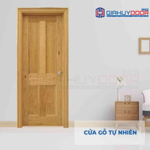 Cửa gỗ tự nhiên GTT 4A soi
