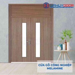 Cửa gỗ công nghiệp MDF Melamine IMG_2198 2 cánh ô kính