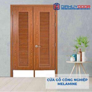 Cửa gỗ công nghiệp MDF Melamine IMG_2207 2 cánh lá sách