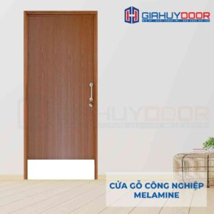 Cửa gỗ công nghiệp MDF Melamine IMG_2208 1 cánh ô Fix chân