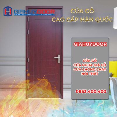 Cửa gỗ Hàn Quốc giá rẻ chống nước và chống cháy